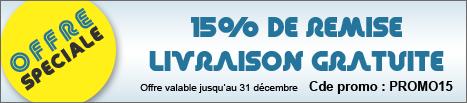 Offre spéciale de lancement 15%